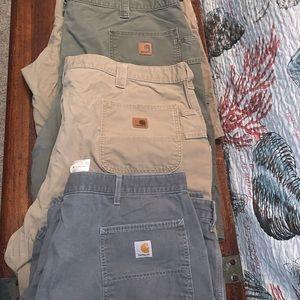 4 Pair Men's Carhartt Carpenter Shorts 46
